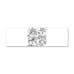 Black and white tribal swirls Car Magnet 10 x 3