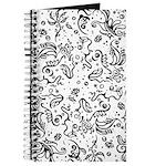 Black and white tribal swirls Journal