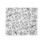Black and white tribal swirls Throw Blanket