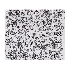 Black and white tribal swirls Throw Blanket
