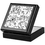 Black and white tribal swirls Keepsake Box