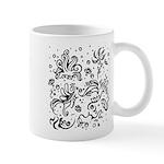 Black and white tribal swirls Mug