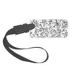 Black and white tribal swirls Luggage Tag
