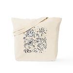 Black and white tribal swirls Tote Bag