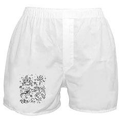 Black and white tribal swirls Boxer Shorts