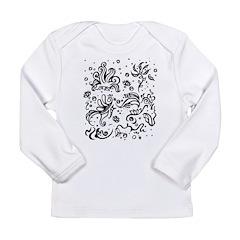 Black and white tribal swirls Long Sleeve Infant T