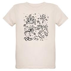 Black and white tribal swirls T-Shirt