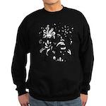 Black and white tribal swirls Sweatshirt (dark)