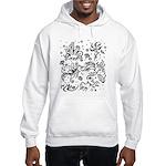Black and white tribal swirls Hooded Sweatshirt