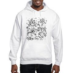 Black and white tribal swirls Hoodie