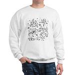 Black and white tribal swirls Sweatshirt