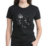 Black and white tribal swirls Women's Dark T-Shirt