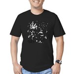 Black and white tribal swirls Men's Fitted T-Shirt