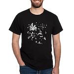 Black and white tribal swirls Dark T-Shirt