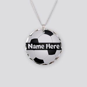 Personalized Soccer Ball Necklace Circle Charm