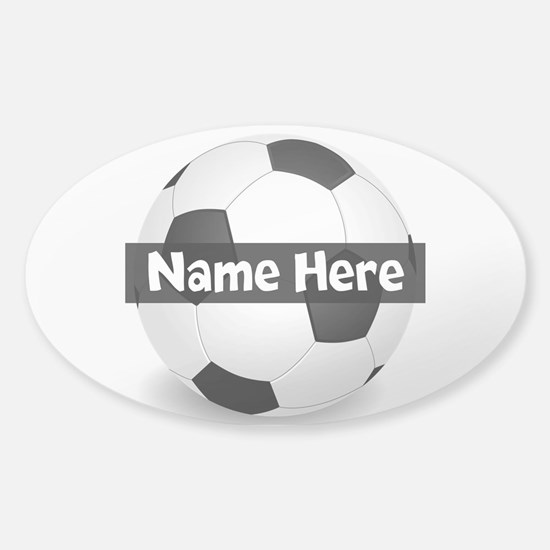 Personalized Soccer Ball Sticker (oval)