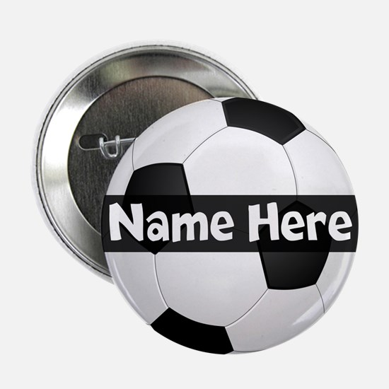 "Personalized Soccer Ball 2.25"" Button"