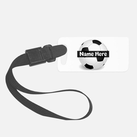 Personalized Soccer Ball Small Luggage Tag
