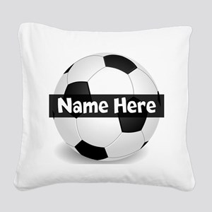 Personalized Soccer Ball Square Canvas Pillow