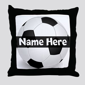 Personalized Soccer Ball Throw Pillow