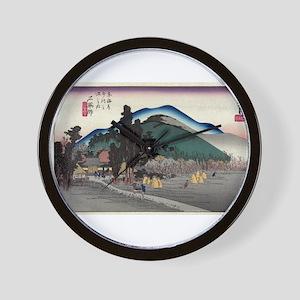 Ishiyakushi - Hiroshige Ando - 1833 Wall Clock