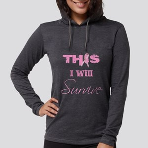 THISIwillSurvivePINK Womens Hooded Shirt