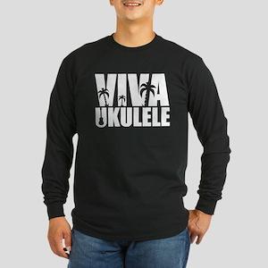 Viva Ukulele Long Sleeve Dark T-Shirt