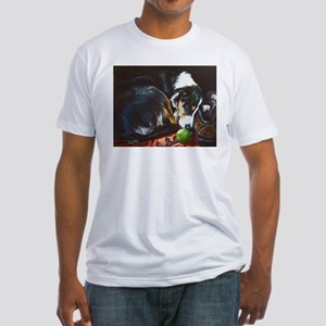 Border Collie Sleeping Fitted T-Shirt
