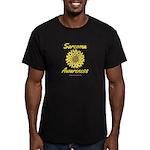 Sarcoma Awareness Ribbon Sunflower Dark T-Shirt