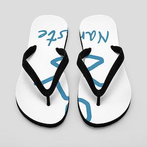 Namaste Abstract Flip Flops