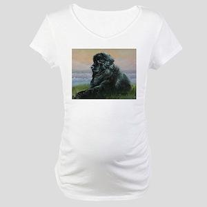 Newfoundland Dog Maternity T-Shirt