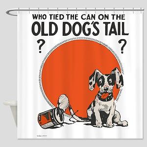 Cute Vintage Dog Shower Curtain