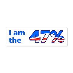 I am the 47% Bumper Sticker Car Magnet 10 x 3