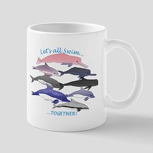 Dolphins Swim Together Mug