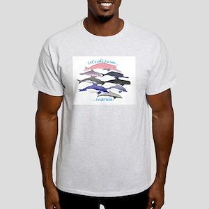 Dolphins Swim Together Light T-Shirt