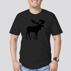 Black Moose Men's Fitted T-Shirt (dark)