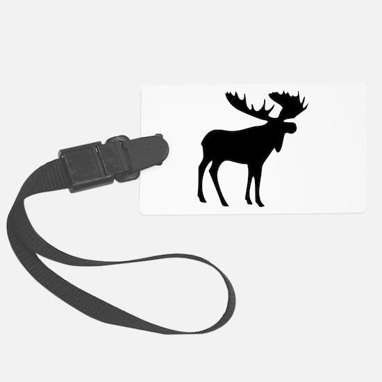 Black Moose Luggage Tag