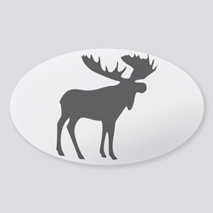Black Moose Sticker (Oval)