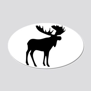 Black Moose 20x12 Oval Wall Decal