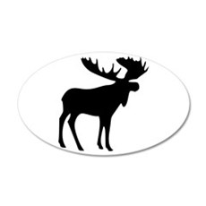 Black Moose Wall Decal