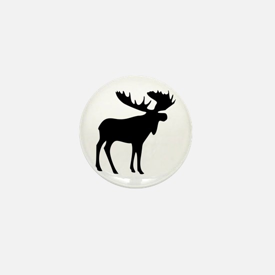 Black Moose Mini Button