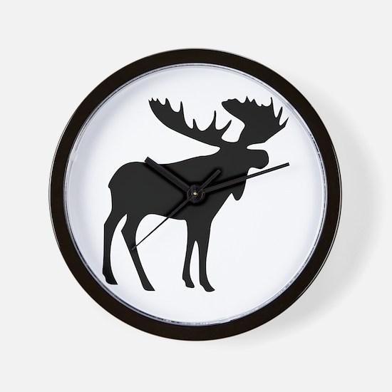 Black Moose Wall Clock