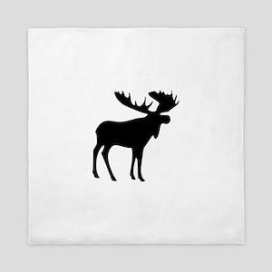 Black Moose Queen Duvet