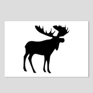 Black Moose Postcards (Package of 8)