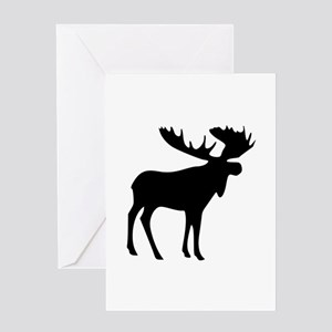 Black Moose Greeting Card
