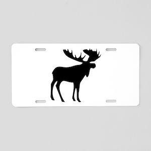 Black Moose Aluminum License Plate
