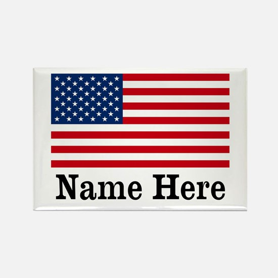 Personalized American Flag Rectangle Magnet