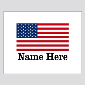 Personalized American Flag Small Poster