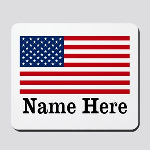 Personalized American Flag Mousepad