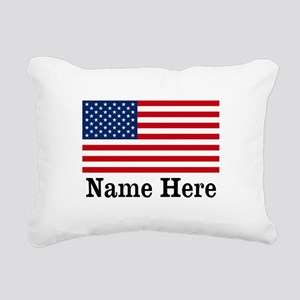 Personalized American Flag Rectangular Canvas Pill
